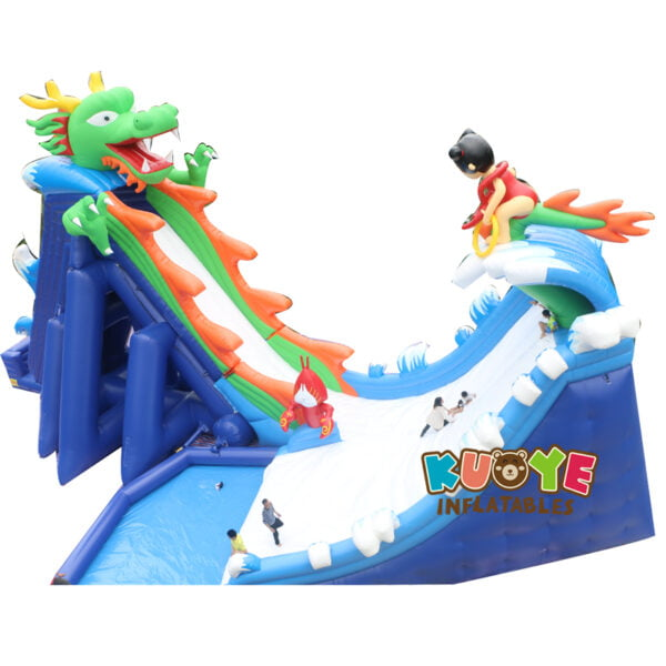 GS001 Dragon Inflatable Hippo Slide with Pool
