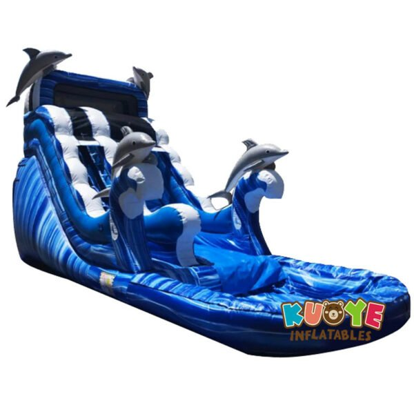 WS1801 18ft Dolphins Kids Water Slide Inflatable