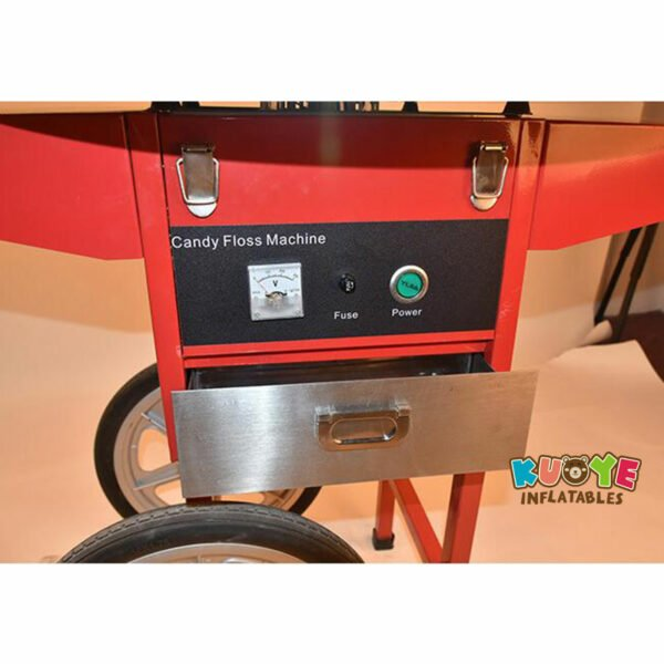 PM003 Commercial Electric Cotton Candy Machine With Cart 6