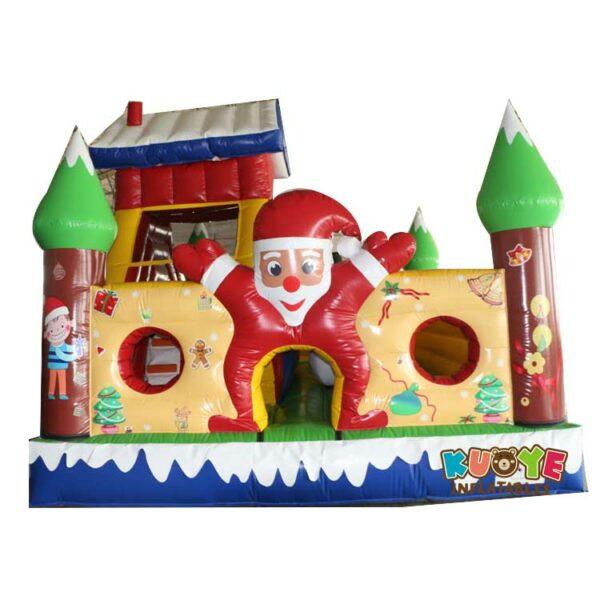 Xmas016 Custom Christmas Castle Inflatable