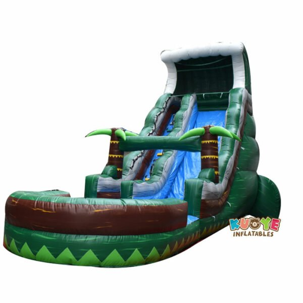 WS042 20FT Tropical Tsunami Water Slide Inflatable