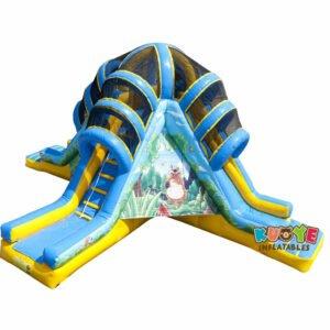 SL026 Inflatable Vulcano Jungle Slide