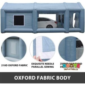 TT008 Portable Mobile Gray Car Spray Paint Inflatable Booth Tent