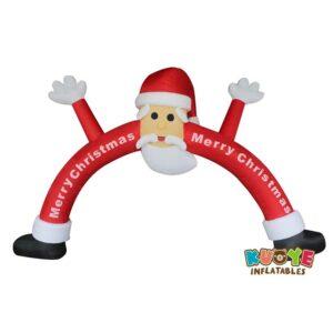 Xmas010 Custom Inflatable Santa Claus Archway Christmas Decoration
