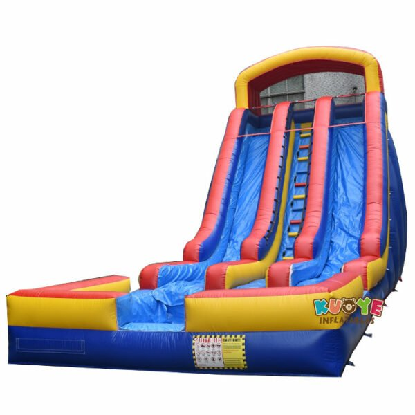 WS012 23ft Double Lanes Inflatable Water Slide with Pool