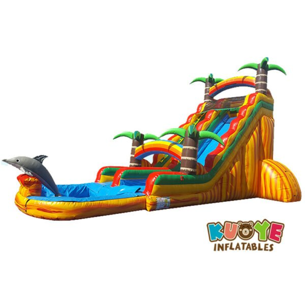 WS1813 8ft Palm Tree Water Slide Inflatable