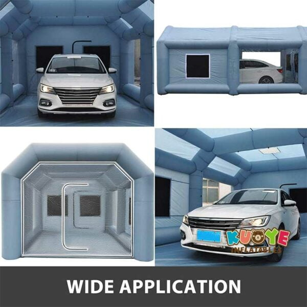 TT007 Grey Outdoor Inflatable Car Spray Paint Booth