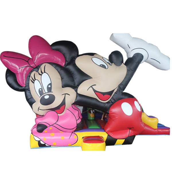 KYCB02 Mickey & Minnie Inflatable Castle Slide Combo