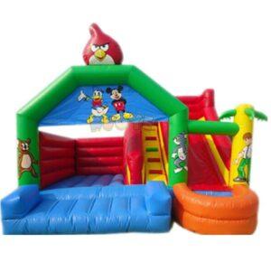 KYCB04 Angry Birds Bouncy Castle Slide Combo
