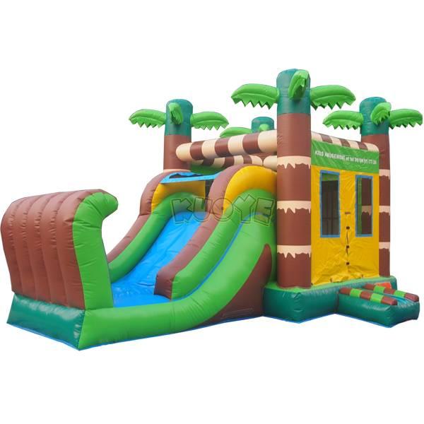 KYCB31 Tropical Bounce House Slide Combo