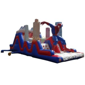 KYOB22 Spiderman Inflatable Obstacle Course 2