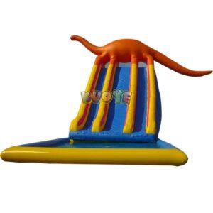 KYSS08 Large Dinosaur Slide With Pool