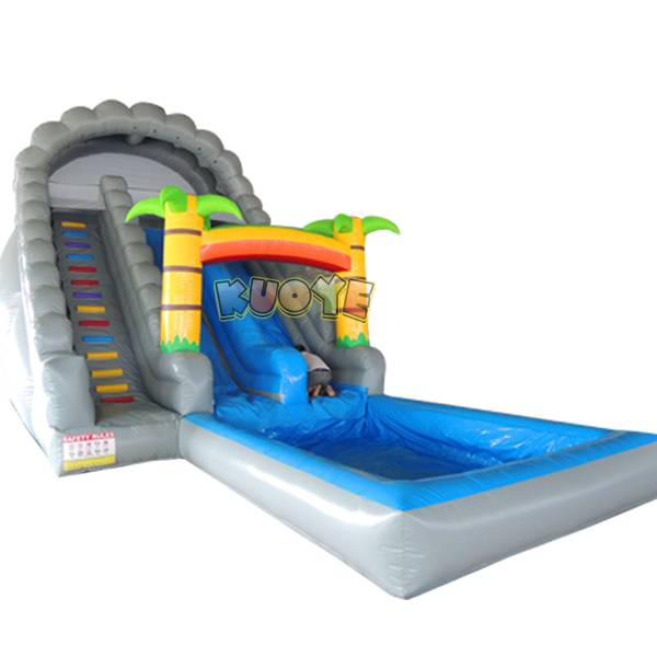 KYSS09 23ft Rainbow Tropical Water Slide