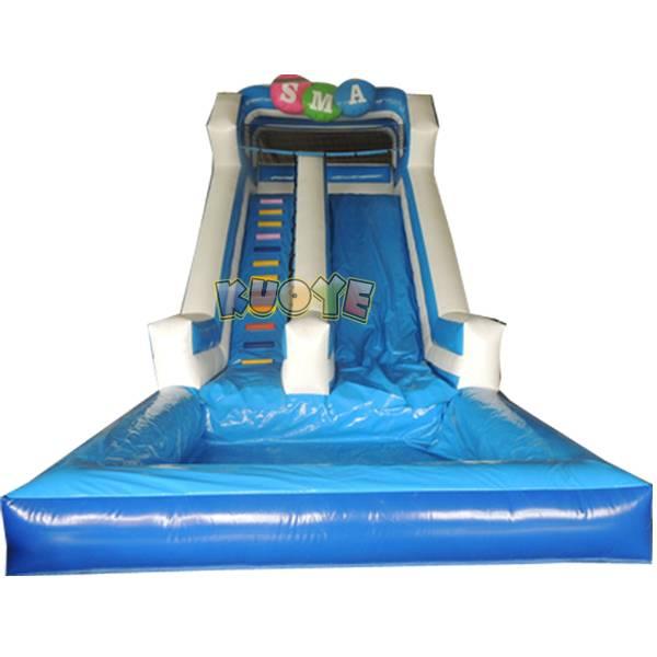 KYSS12 Blue & White Water Slide