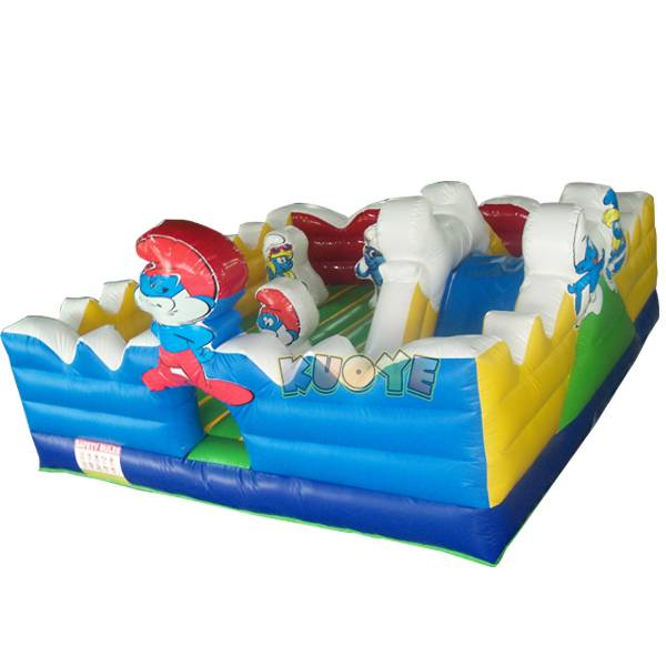 KYC86 Inflatable Bouncer Smurfs