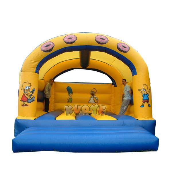 KYC93 The Simpsons Bouncy Castle
