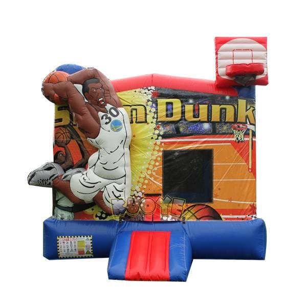 KYC126 Slam Dunk Bounce House With Basketball Hoop