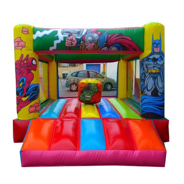 KYC131 Superheros Inflatable castle