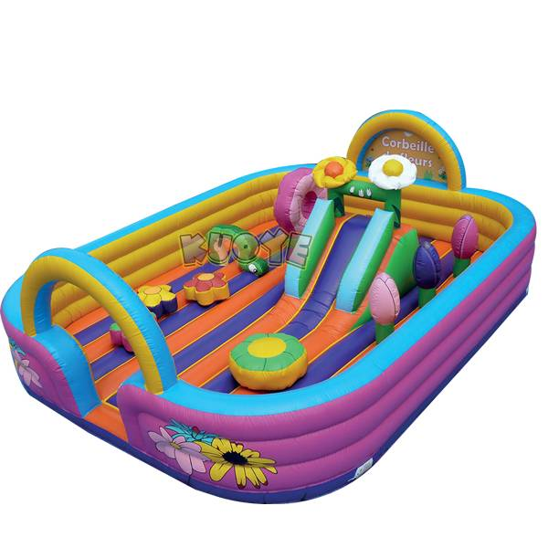 KYCB44 Flowers Activity Bouncer Low Height & Open