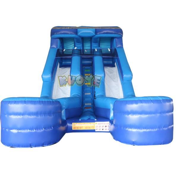 KYSS38 16ft Blue Double Lane Water Slide
