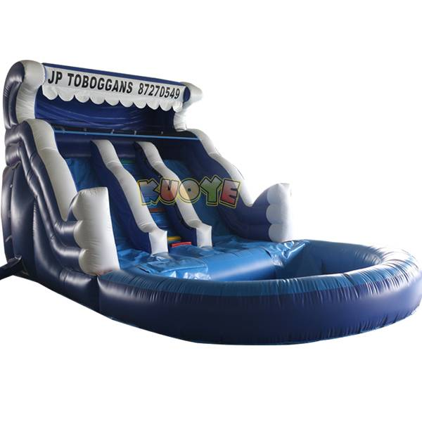KYSS39 14ft Blue Wave Water Slide with Pool