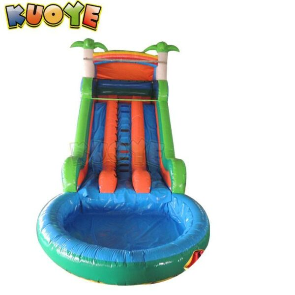 KYSS50 Palm Tree Water Slide with Pool