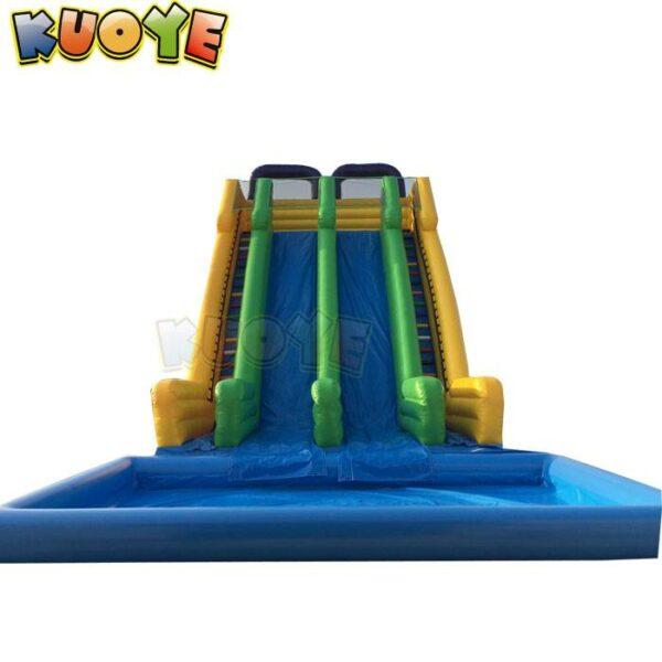 KYSS57 Large Dual Lane Water Slide with Pool