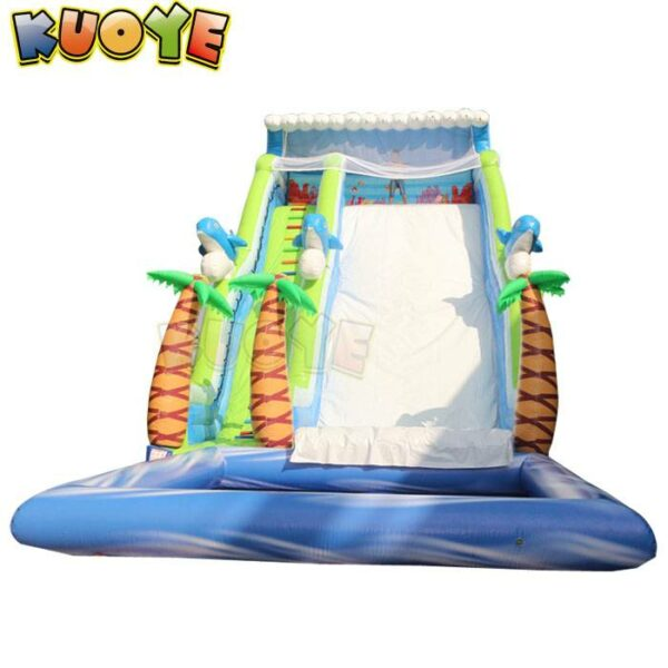 KYSS58 Tropical Island Water Slide with Pool