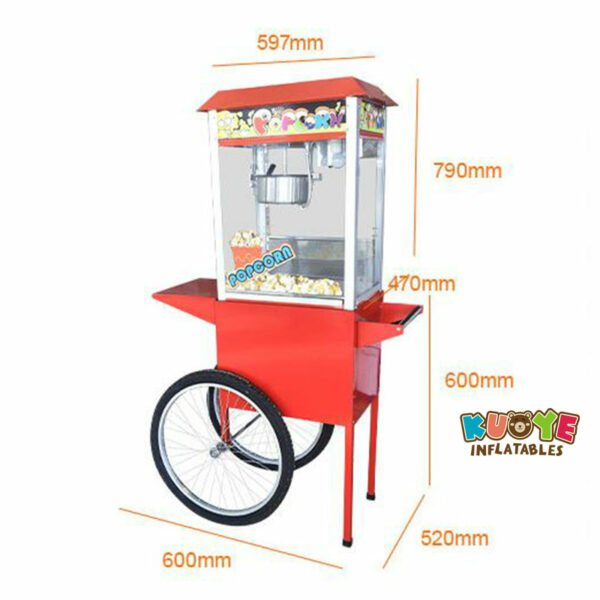 PM002 Commercial Electric Popcorn Machine with Cart 2