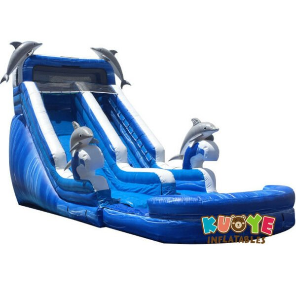 WS1802 16ft Dolphins Pool Water Slide Inflatable