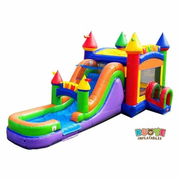 CB109 Mega Modern Rainbow Water Slide Bounce House Combo
