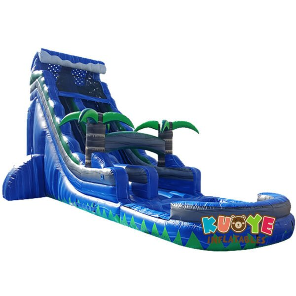 WS1820 20ft Blue Crush Inflatable Water Slide with Pool