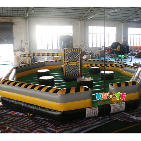 SP1851 8 Players Meltdown Mechanical Inflatable Wipe Out game 5