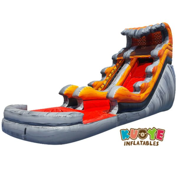 WS1821 18ft Liquid Marble Water Slide with Pool