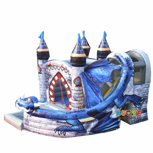 CB040 Dragon Combo Jumping Castle and Slide with Pool