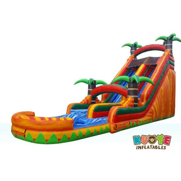 WS010 18ft Paradise Palm Tree Inflatable Water Slide
