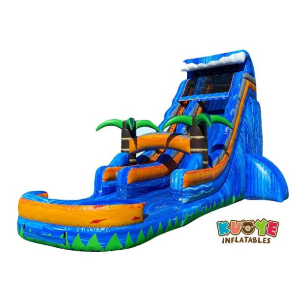WS009 20ft Tropical Palm Tree Inflatable Water Slide