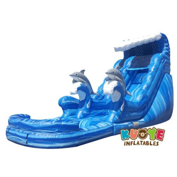 WS1803 20ft Dolphin Splash Bounce Water Slide