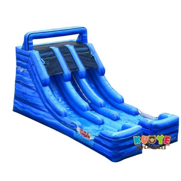WS059 16ft Blue Marble Double Lane Water Slide