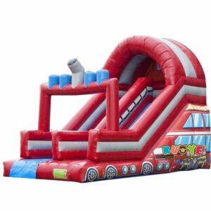 SL013 Inflatable Firetruck Slider