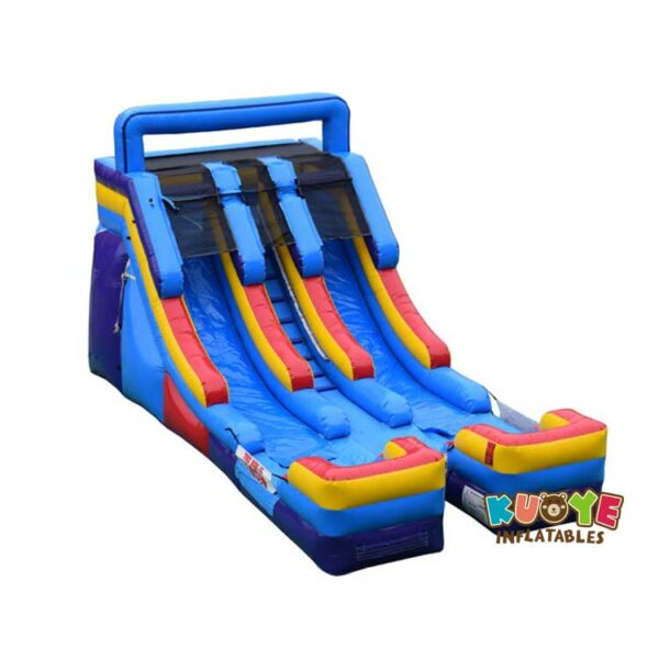 WS061 16ft Red & Blue Double Lane Water Slide