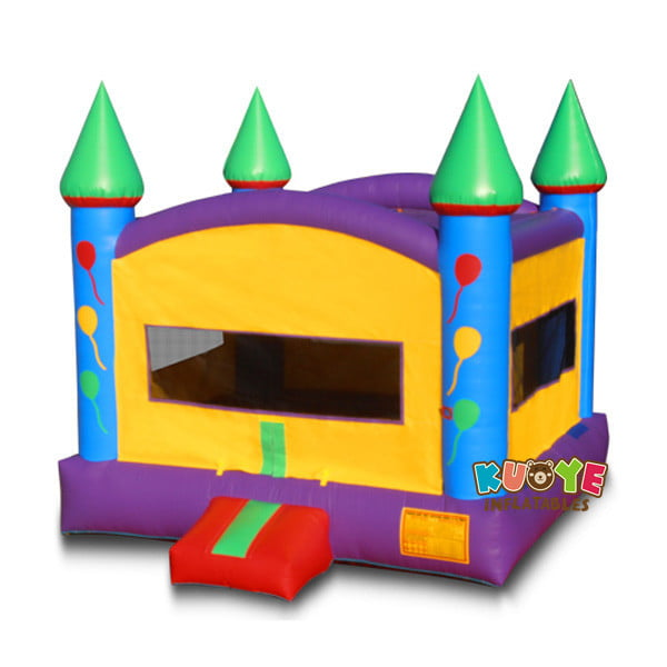 BH093 Multi Color Castle Inflatable Moonwalk for Rental