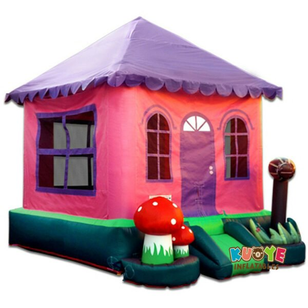 BH1834 Pink Bounce House
