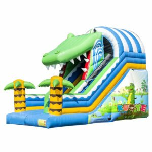 SL014 Inflatable Crocodile Slide for Kids