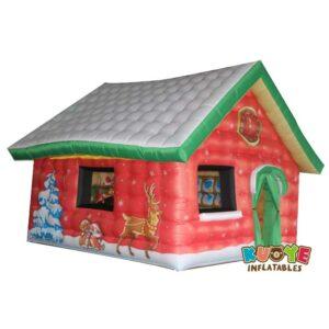 Xmas013 Custom Christmas Santa Decoration House Inflatable 2