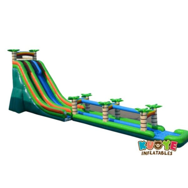 WS072 27′ Dual Lane Tropical Water Slide