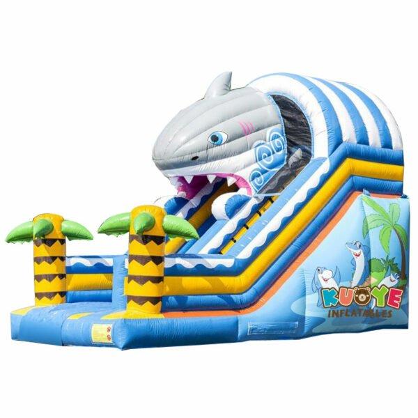 SL016 Inflatable Shark Bouncy Slide