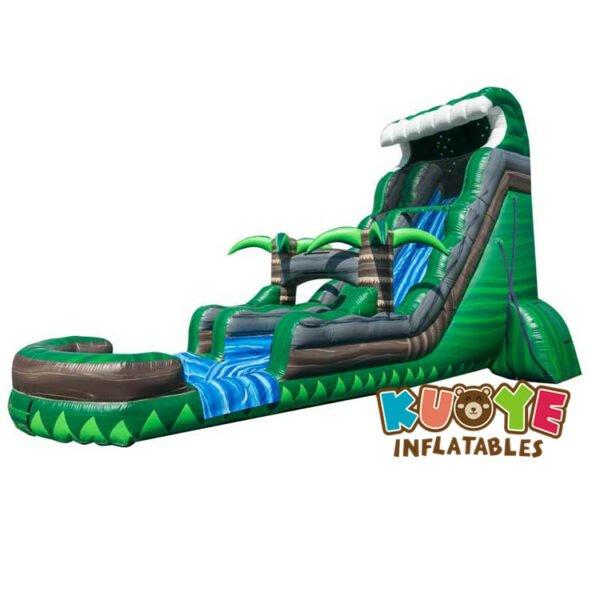 WS015 22ft Emerald Crush Tsunami Water Slide Inflatable