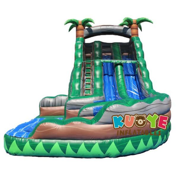 WS018 19ft Congo Rainforest Water Slide With Pool