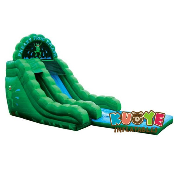 WS024 18ft Freaky Frog Splash Water Slide With Pool